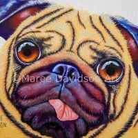 PUG DOG PAINTING - DOUG THE PUG