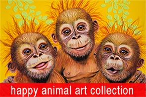 Happy Animal Collection Maree Davidson Art