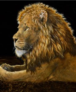 REFLECTIONS - LION PAINTING Maree Davidson Art