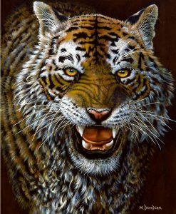 SHOWDOWN - TIGER PAINTING Maree Davidson Art