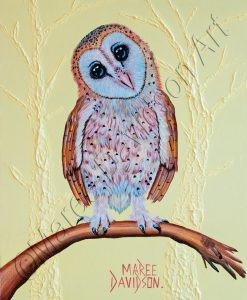 LEMMON BARN OWL Maree Davidson Art