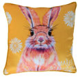 BUNNY CATCH ME IF YOU CAN THROW CUSHION MAREE DAVIDSON ART