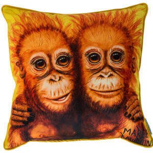 ORANGUTAN THROW CUSHION MAREE DAVIDSON ART
