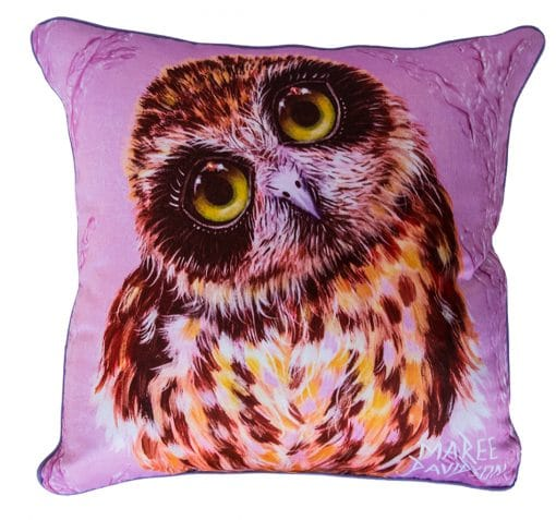 BOOBOOK OWL CUSHION COVER