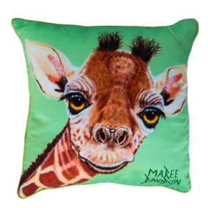 GIRAFFE THROW CUSHION MAREE DAVIDSON ART