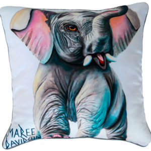 BABY ELEPHANT THROW CUSHIONS MAREE DAVIDSON ART