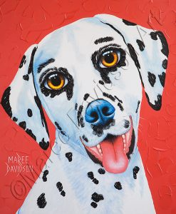 DOG COLLECTION - DALMATIAN DOG LUCKY Maree Davidson Art