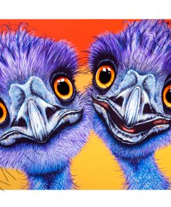 EMU PAINTING - OUTBACK BUDDIES Maree Davidson Art