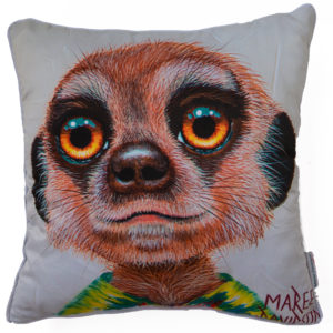 PJ THE MEERKAT THROW CUSHION COVERS