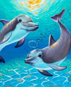 SEALIFE COLLECTION - TWO DOLPHINS Maree Davidson Art