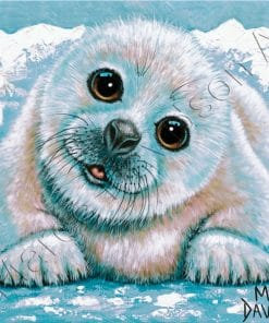 SEALIFE COLLECTION - HARP SEAL - JUST CHILLIN Maree Davidson Art