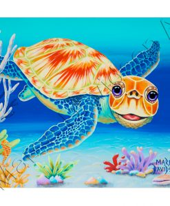 TURTLE PAINTING - UNDER THE SEA Maree Davidson Art