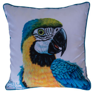 YELLOW MACAW CUSHION COVERS Maree Davidson Art