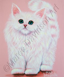CASHMERE ROSE KITTEN Maree Davidson Art
