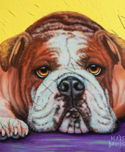 DOG COLLECTION - ENGLISH BULLDOG ANGEL Maree Davidson Art