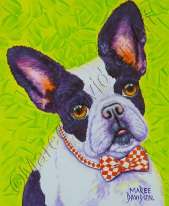 DOG COLLECTION - WINSTON FRENCH BULLDOG Maree Davidson Art