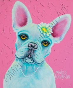 DOG COLLECTION - PINK FRENCH BULLDOG Maree Davidson Art