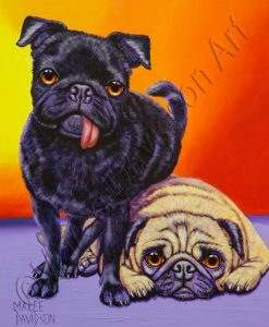 DOG COLLECTION - DOUBLE TROUBLE Maree Davidson Art