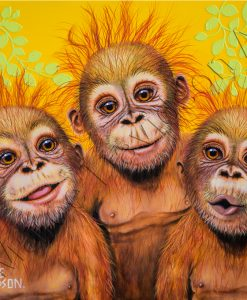 ORANGUTAN PRINTS BEST MATES Maree Davidson Art