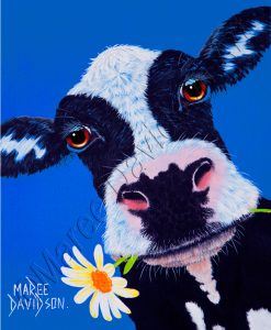 DAISY THE COW PRINT Maree Davidson Art