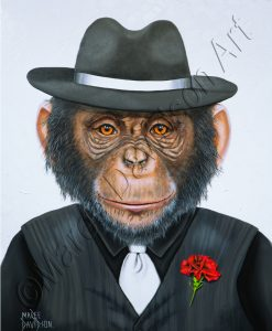 GANGSTER CHIMP Maree Davidson Art