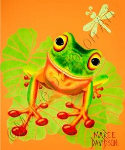 LEAPFROG - QUEENSLAND TREE FROG Maree Davidson Art