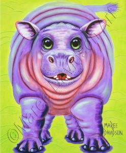 THE HAPPY HIPPO Maree Davidson Art