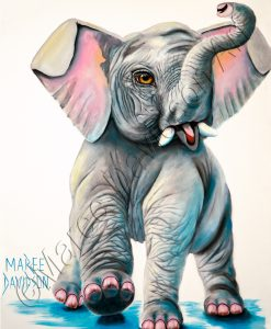 ELEPHANT ARTWORK PRINTS - WILD THING Maree Davidson Art