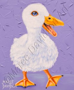 THE HAPPY DUCK Maree Davidson Art