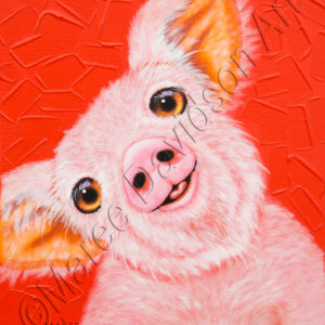 WIGGLES THE PIG Maree Davidson Art