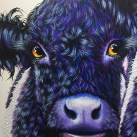 Maree Davidson Artist Cow Painting