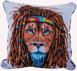 HIPPIE LION - CUSHION COVER Maree Davidson Art