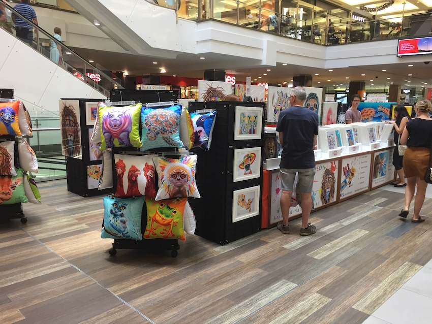 Maree Davidson Art Indooroopilly Shopping Centre