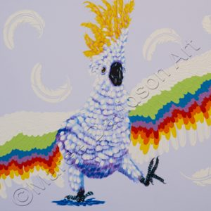 THE DANCING COCKATOO Maree Davidson Art