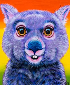 DIGGER THE WOMBAT Maree Davidson Art