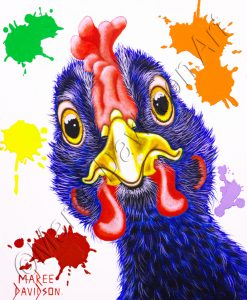 HEUUIE BLACK CHICKEN Maree Davidson Art
