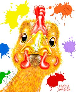 PENNY YELLOW CHICKEN Maree Davidson Art