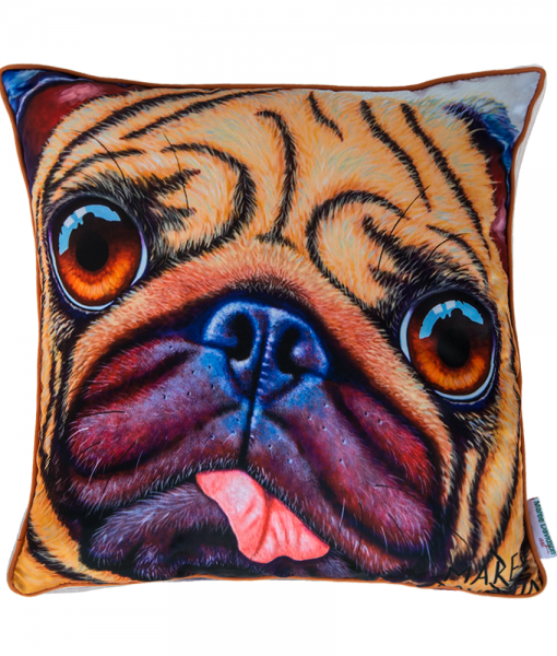 DOUG THE PUG - CUSHION COVER - MAREE DAVIDSON ART