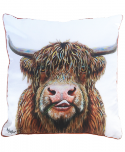HAMISH THE HIGHLAND COW - CUSHION COVER - MAREE DAVIDSON ART