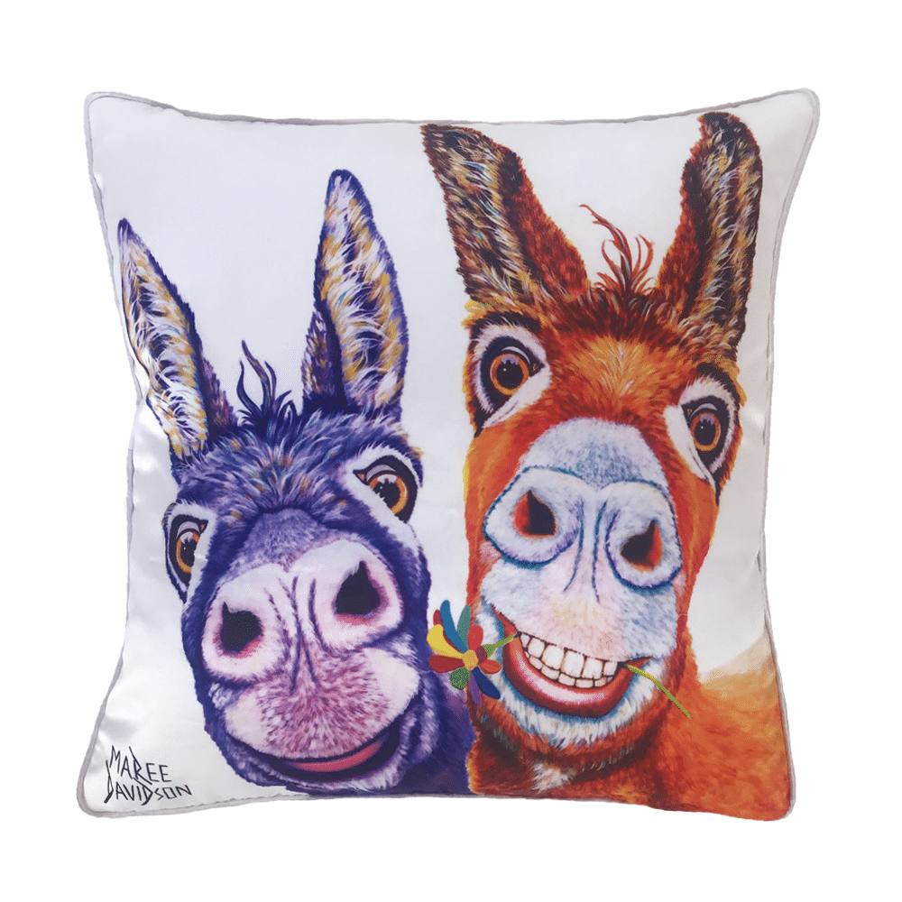 HAPPY FOREVER - CUSHION COVER - MAREE DAVIDSON ART