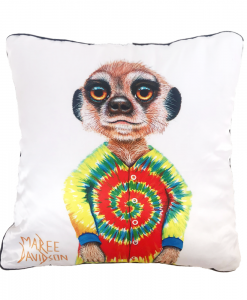 PJ THE MEERKAT - CUSHION COVER - MAREE DAVIDSON ART