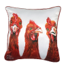 BARNYARD BUDDIES - CHICKENS - CUSHION COVER - MAREE DAVIDSON ART