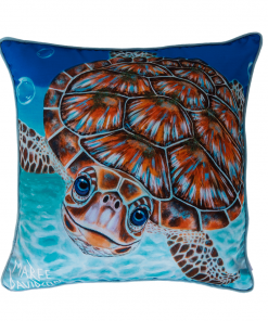 BUBBLES - TURTLE - CUSHION COVER - MAREE DAVIDSON ART
