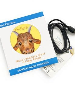 BUCK THE GOAT-WIRELESS CHARGER-MAREE DAVIDSON ART