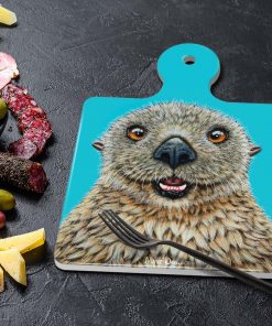 BARRY THE SEA OTTER-SQUARE TRIVETS-MAREE DAVIDSON ART