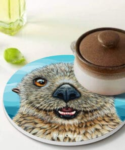 Barry the sea otter - Ceramic Trivets - Maree Davidson