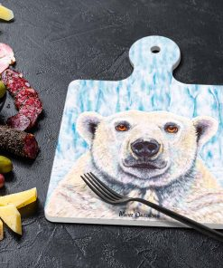 BIERRE THE POLAR BEAR-SQUARE TRIVETS-MAREE DAVIDSON ART