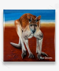 Big Red - Ceramic Coaster - Maree Davidson