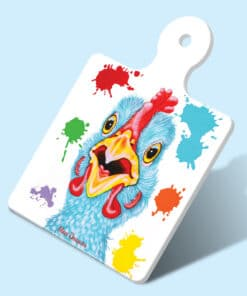 LENNY_BLUE_CHICKEN SQUARE TRIVET