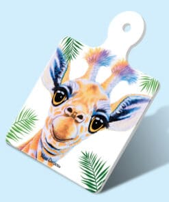 BOBBY THE BABY GIRAFFE SQUARE TRIVET